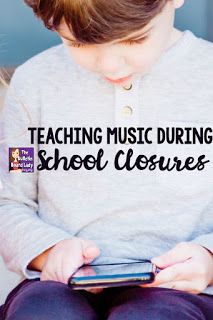 A list of freebie and inexpensive ideas for teaching elementary music during school closures. Remote learning ideas and websites and projects for distance learning in music class are listed with links that music teachers can use right away. Online Music Lessons, Elementary Music Lessons, Music Online, Elementary Schools, Music Education Activities, Physical Education, Health Education, Special Education, Movement Activities