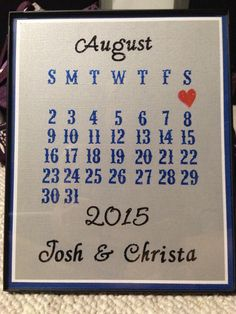 Wedding gift idea. Inexpensive, but personalized to be a thoughtful gift!