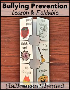 Bullying Prevention Lesson and Foldable- Halloween Themed! Great, interactive way to teach about bullying just in time for Bullying Prevention Month (October).