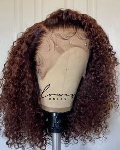 Chocolate Cosmos, Chocolate Brown, Curly Wigs, Human Hair Wigs, Middle Part Hairstyles, Colored Wigs, African American Hairstyles, Wigs For Black Women, Protective Hairstyles