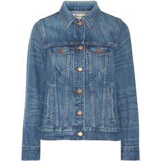 Madewell Classic Jean denim jacket ($160) ❤ liked on Polyvore featuring outerwear, jackets, jean jacket, blue denim jacket, madewell, madewell jacket and blue jackets