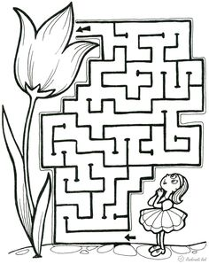 Afbeeldingsresultaat voor how to draw a maze Art Drawings For Kids, Drawing For Kids, Interactive Learning, Kids Learning, Drawing Activities, Activities For Kids, Maze Drawing, Mazes For Kids Printable, Maze Worksheet