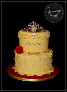 Princess Belle Cake! | Made for my niece who just turned fou… | Yummy Treats by Yane | Flickr
