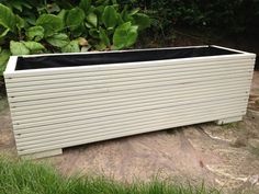 Large wooden garden planter trough in decking boards for 2 4 metre decking boards