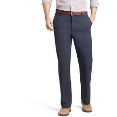 Men's IZOD American Chino Straight-Fit Wrinkle-Free Flat-Front Pants (78 BRL) ❤ liked on Polyvore featuring men's fashion, men's clothing, men's pants, men's casual pants, blue, american eagle mens pants, mens low rise pants, mens flat front dress pants, mens patterned pants and mens zip off pants
