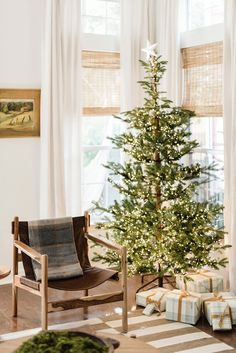 Cozy Christmas decor in a traditional home