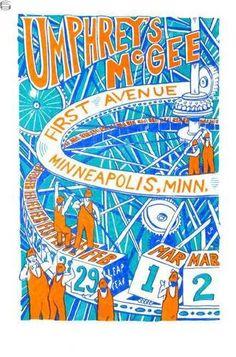 Jim Pollock Umphrey's McGee Minneapolis First Avenue Poster 08 Phish Moe EMEK | eBay