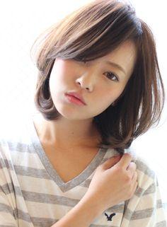 大人女性・ひし形カジュアルボブ(髪型ボブ)