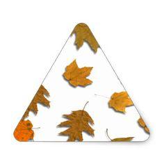 Autumn maple leaves triangle sticker - craft supplies diy custom design supply special