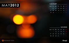 Free Desktop #Wallpaper Calendar of May 2012 ~ Included #iPhone Wallpaper