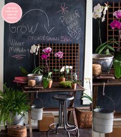 flower studio // styling by Matthew Mead in Flea Market Finds book via Bright Bazaar