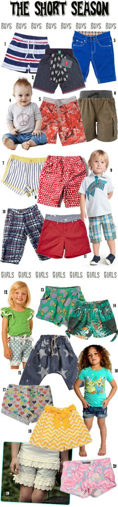 KidStyleFile Roundup : Top 20 Best Kids Shorts for Summer