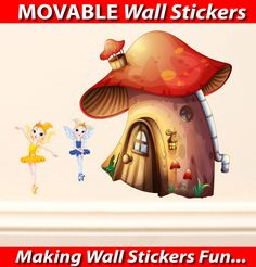 Fairies House Wall Stickers - Totally Movable, Buy direct from the printers and SAVE!  FREE Gift with every purchase $2.99 (http://www.wholesaleprinters.com.au/fairies-house-wall-stickers-totally-movable/)