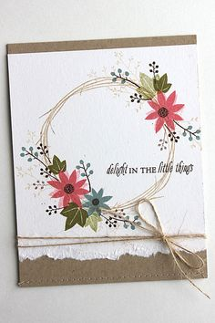 Clean and rustic card by Heather Nichols. Love this new stamp set!