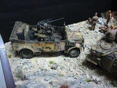 Modified Horsch (w/ 20 mm gun) + Tiger I 1/35 Scale Model Diorama