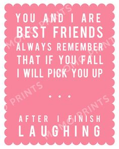 BEST FRENDS or SISTERS Funny Print by MomoPrints on Etsy