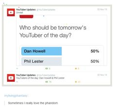 Dan and Phil,danisnotonfire,amazingphil,phandom,phan,dan howell,phil lester,youtube