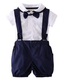 White Shorts Outfits Clothes Sets 2019 New G-Real 2PCS Toddler Baby Boys Flowers Print T-Shirt Tops