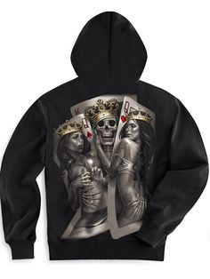 "Men's ""2 Of A Kind"" Zip-Up Hoodie by OG Abel (Black)"