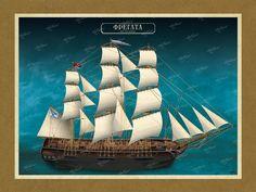 ΦΡΕΓΑΤΑ Όλες οι εικονογραφήσεις είναι από το βιβλίο της ΑΡΤΕΟΝ ΕΚΔΟΤΙΚΗΣ: Πειρατικά και κουρσάρικα σκαριά των θαλασσών μας. 18ος-19ος αιώνας. Ένα ταξίδι στον κόσμο των πειρατικών και κουρσάρικων σκαριών και στη ζωή των προγόνων μας. www.e-arteon.gr Sailing Ships, Boat, Dinghy, Boats, Sailboat, Tall Ships, Ship