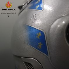 Special Decoration based on a alluminium metal powder with candy base design and glossy clear coat  Schuberth SR1 helmet design inspiration Sebastian Vettel and Michael Schumaker  www.phoenixdesign.it