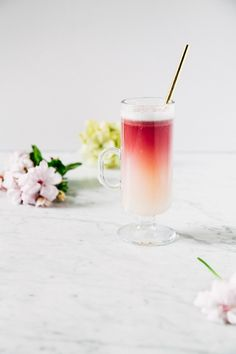 Red Wine Gin Sour - Gin, St. Germain, Simple Syrup, Lemon Juice, Egg White, Italian Red Wine.