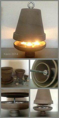 Candle-Powered Clay-Pot-Heater
