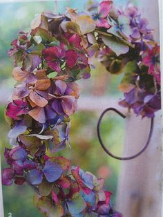 Pretty wreath in plum and purple.