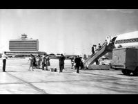 """Opened 1961, demolished 1980 -- In true Atlanta tradition, what we now know as Hartsfield-Jackson International Airport has been named, named again and then re-named, starting life as Candler Field. Then it became Atlanta Municipal Airport, which was called the """"Atlanta Airport"""" by most locals. Then we just called it """"Hartsfield"""" when it expanded and went international. Now we're pretty used to """"Hartsfield-Jackson."""" And the terminal itself? Its first major facelift came in 1961 when a ..."""