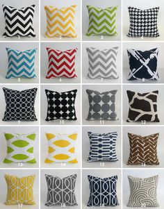 16x16 Pillow Pick Your Print  Zipper Closure Pillows by skoopehome, $16.00