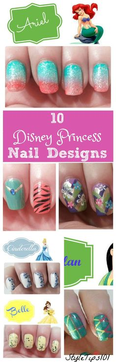 Disney Princess Nail Designs