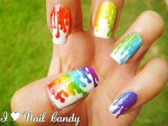 Colorful Nails #nails #multicolorednails #nailart