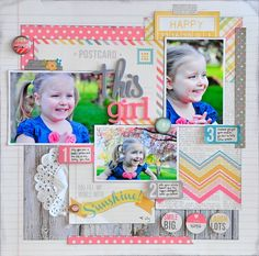 """Jill here to share a layout with you using the brand new """"Vintage Bliss"""" collection by Simple Stories."""
