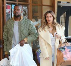 Kim Kardashian and Kanye West street style