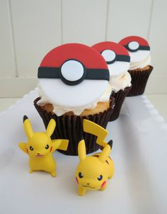 How to make fondant pokemon cupcake topper