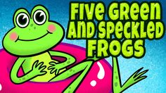 "FREE Animated Music Video: ""Five Green and Speckled Frogs"" is a popular children's rhyming song. It's great for brain breaks, indoor recess, morning meeting, group activities and circle time. This song also teaches early math (subtraction), listening skills, following directions and is a perfect addition to your theme on spring. This song is ideal for preschool, kindergarten and lower elementary age kids."