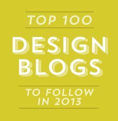 Top 100 Design Blogs To Follow In 2013 | Ciera Design | Brand Identity + Graphic Design
