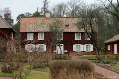 Linnes Hammarby. Uppsala, Sweden, Cabin, House Styles, Home Decor, Decoration Home, Room Decor, Cabins, Cottage