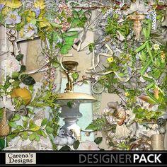 Gardenflorals-digital kit. For our wedding album.
