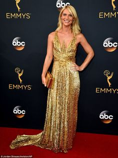 Claire Danes suffers fake tanning fail on the Emmys red carpet | Daily Mail Online