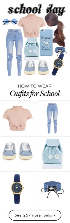 """""""school day"""" by zainab55husain on Polyvore featuring Yves Saint Laurent, Sugarbaby and Vivani"""