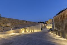 Local hardstone has been used so the new City Gate blends in the bastion walls and the surroundings