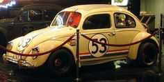 Herbie No 53 Movie VW Bug at the Petersen Auto Museum