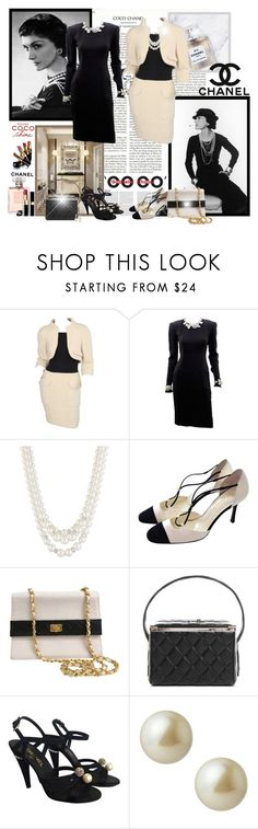 """""""Coco Chanel! - Contest!"""" by asia-12 ❤ liked on Polyvore featuring Chanel, Anne Klein, Karl Lagerfeld, Carolee and David Yurman"""