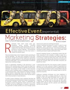 Effective Event (Experiential) Marketing Strategies (Pt. 1)
