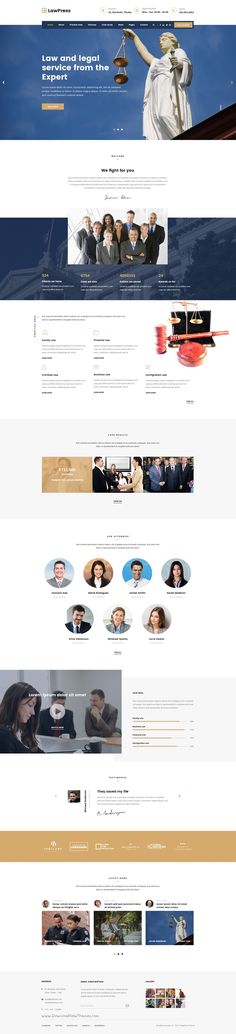 LawPress is a creative, stylish, good looking #PSD template for #attorney #website with 5 stunning homepage layouts and 22+ organized PSD pages download now➯ https://themeforest.net/item/lawpress-creative-website-template-for-law-lawyer-attorney-and-legal-agency/17017535?ref=Datasata
