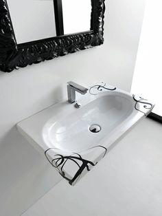 Blend, design Meneghello Paolelli Associati. #bagno #bathroom #design #decor #white #black  #sanitaryware #washbasin #Artceram