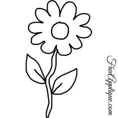 23 Flower Patterns - FreeApplique.com