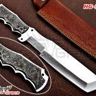 HANDMADE D2 STEEL FULL TANG TRACKER KNIFE WITH DAMASCUS HANDLE HG-742 D2 Steel, Tool Steel, Hunting Knives, Damascus, Handle, Damask, Knob