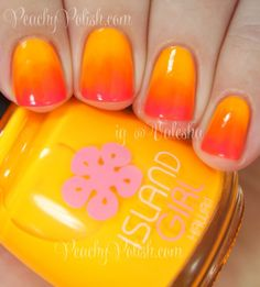 Tropical Ombre | Peachy Polish #NailArt